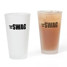 Pound Sign Swag Drinking Glass