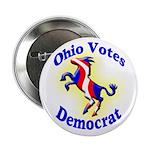 Ohio Votes Democrat Button