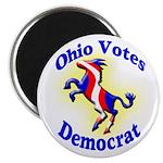 Ohio Votes Democrat Round Magnet
