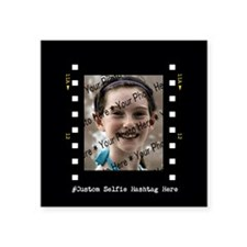 "Custom Selfie Photo Frame w Square Sticker 3"" x 3"""