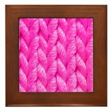 Pink Kniting - Crafty Framed Tile