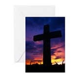 Sunset Cross Greeting Cards