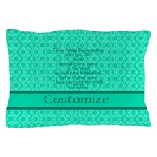 John16:33 The Word Aquamarine Pillow Case