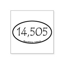 "Cute Whitney Square Sticker 3"" x 3"""