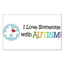 Cute I love someone autism Decal