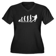 Distressed Lacrosse Evolution Plus Size T-Shirt