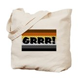 BEAR PRIDE FLAG/GRRR! Tote Bag