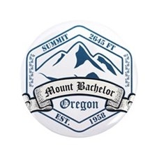"Mount Bachelor Ski Resort Oregon 3.5"" Button (100"