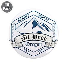"""Mt Hood Ski Resort Oregon 3.5"""" Button (10 pack)"""