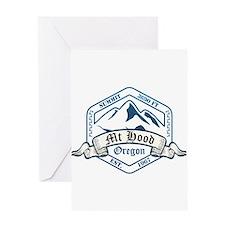 Mt Hood Ski Resort Oregon Greeting Cards