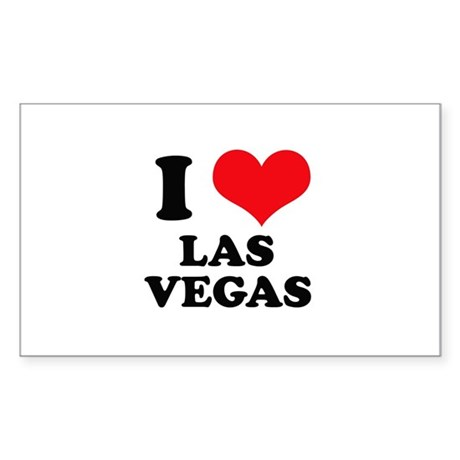I Heart Las Vegas Rectangle Sticker