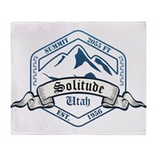 Solitude Ski Resort Utah Throw Blanket