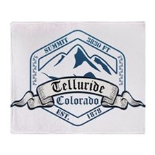 Telluride Ski Resort Colorado Throw Blanket