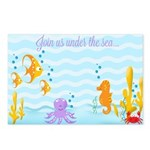 Sea Critters Invitation Postcards (Package of 8)