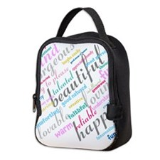 Positive Thinking Text Neoprene Lunch Bag