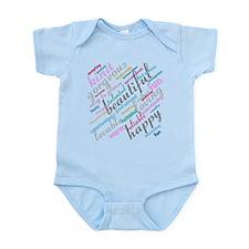 Positive Thinking Text Infant Bodysuit