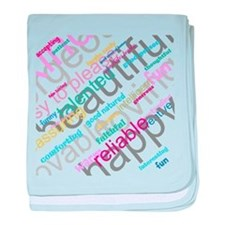 Positive Thinking Text baby blanket
