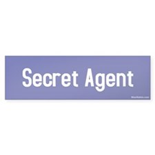 Secret Agent Bumper Bumper Sticker
