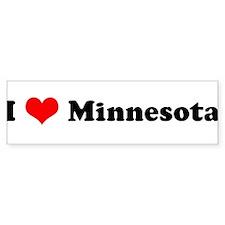 I Love Minnesota Bumper Bumper Sticker