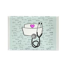 Funny Registered nurse oncology Rectangle Magnet