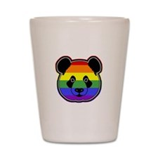 panda head pride Shot Glass