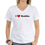 I Love Buddha -  Women's V-Neck T-Shirt