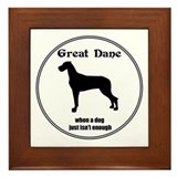Dane (Nat) Enough Framed Tile