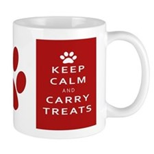 Keep Calm Paw Print Mugs