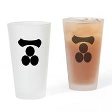 Kanji numeral one and three stars Drinking Glass