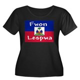 Fwon Lespwa Women's Plus Size Scoop Neck Dark T-Sh