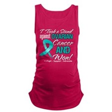 Ovarian Cancer Stand Maternity Tank Top