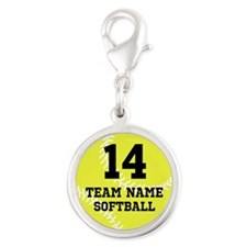 Personalize Softball Charms