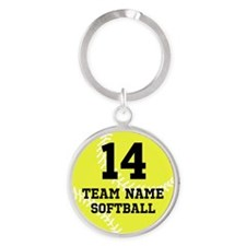 Personalize Softball Keychains