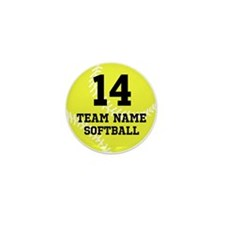 Personalize Softball Mini Button (10 pack)