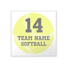 Personalize Softball Sticker