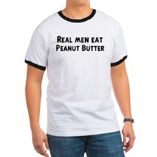 Men eat Peanut Butter T