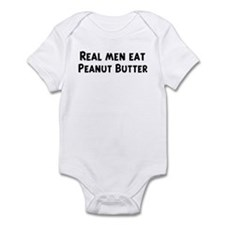 Men eat Peanut Butter Infant Bodysuit