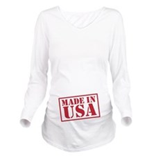 Made In USA VINTAGE Long Sleeve Maternity T-Shirt