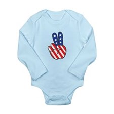 Peace USA Flag VINTAG Body Suit