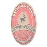 North Cascades National Park Oval Decal