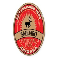 Saguaro National Park Oval Decal