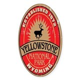 Yellowstone National Park Oval Decal