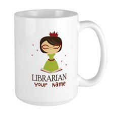 Personalized Librarian Lady Mugs