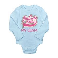 Cute like my Gram Long Sleeve Infant Bodysuit
