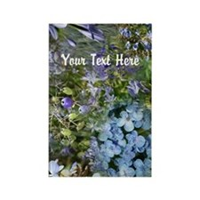 Blue Flowers Collage Cu Rectangle Magnet (10 pack)