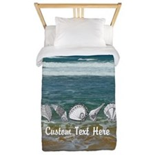 Original Seashell Customizable Art Twin Duvet