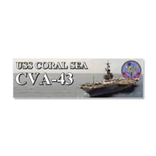 Uss Coral Sea Cva-43 Car Magnet 10 X 3