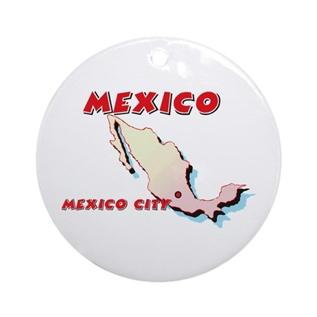 Mexico Map Ornament (Round)