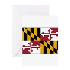 Maryland Flag Greeting Cards