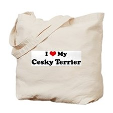 I Love Cesky Terrier Tote Bag